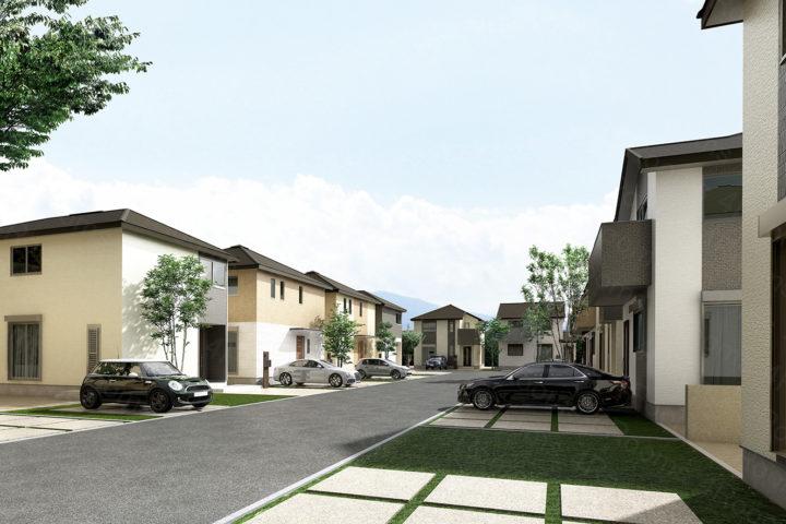 住宅地_CGパースです。